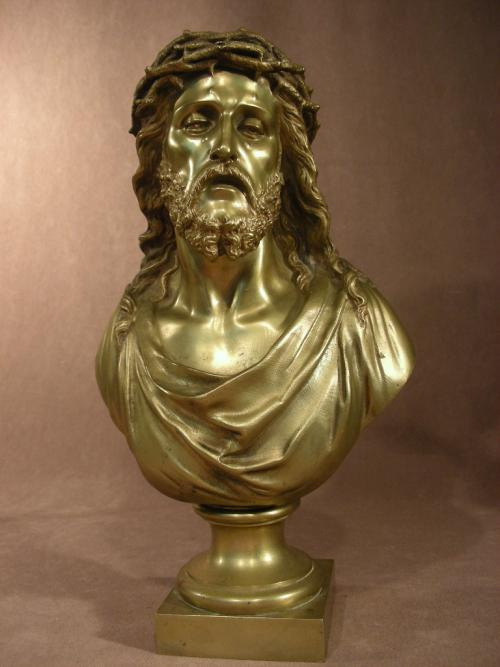 Bronze Christ Signed by BULIO (1827-1911)