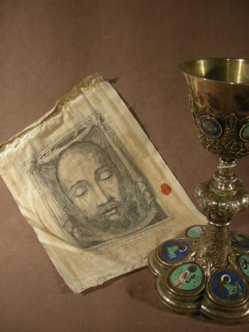 VEIL OF VERONICA Sudarium Holy Face of Our Lord Jesus Christ