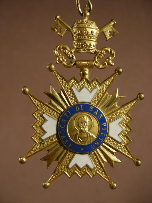 Medal  official Avocat of Vatican