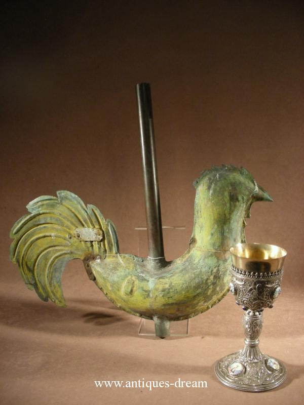 Rare weathercock of church 1850 French