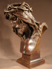 Bronze Christ Signed by Marioton Eug (1854-1925)