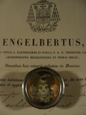 Relic Santi Hyacinthi. Conf.  With Document Authentique 1841