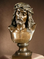 Christ Bronze Leon Pilet (French 1840-1916)