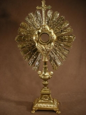 Great Monstrance Golden Bronze .1880 French.