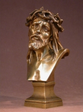 Bronze Christ Signed by   Marioton Eug 1854-1925