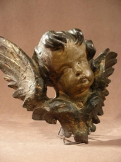 Putti hand carved wood 18 thC