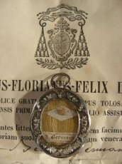 Relic St Germanae With Doc 1863.