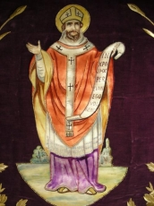 St Martin-Somptuous Banner desing in gold threads.