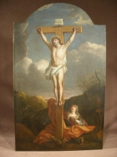 Painting 18 thc Christ on the Cross