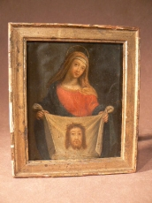 Rare Painting on Copper 17 thC Holy face