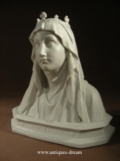 Antique Bisque Porcelain Statue Ste Elizabeth.
