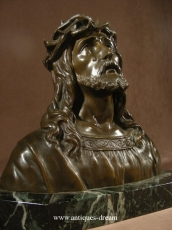O.Ruffony.Solid Bronze Bust of Christ