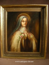 Oil painting Representing St Therese of Lisieux.