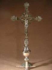 Processionnal Cross Crucifix Bronze