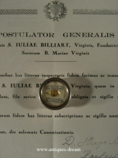 Relic. St Juliae Billiart.With Authentique Document.