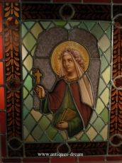 Stained Glass Window Representing St Therese A Jesus infante
